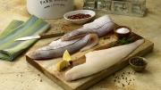 Food photography Haddock fish raw being prepared