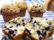 baked blueberry muffins
