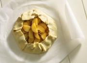 Food photography baking a plum dessert