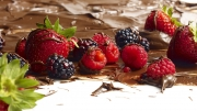 strawberry raspberry blackberry and chocolate
