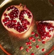 Food photography pomegranate