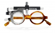 photography tortoise shell glasses test device optometrists phoropter