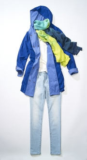 photography timberland woman jeans shirt scarf jean jacket