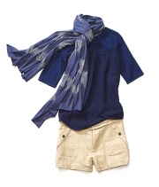 photography timberland woman scarf t-shirt shorts