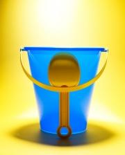 children beach bucket blue