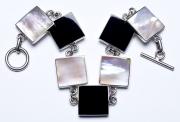 Jewelry bracelet silver and stone