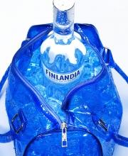 finlandia vodka in a bag on ice