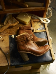 photography marge leather high heel boots workshop