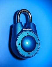 staples master lock blue