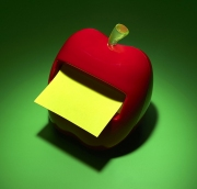 photography staples apple sticky note dispenser