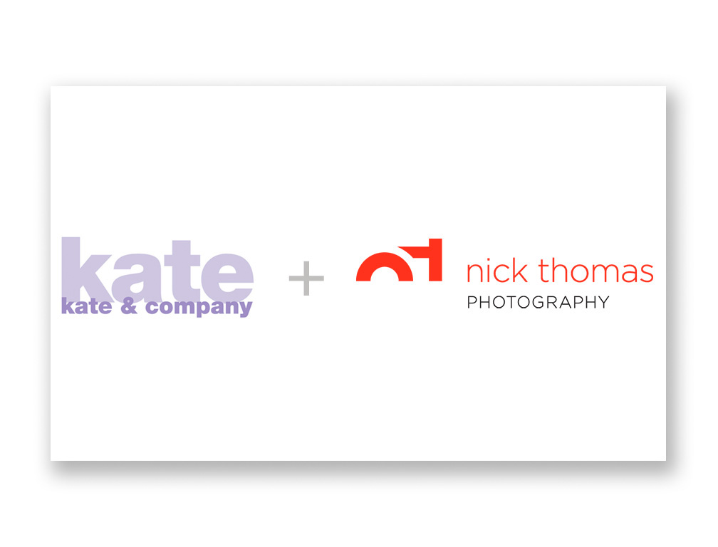 Kate and Nick graphic logos