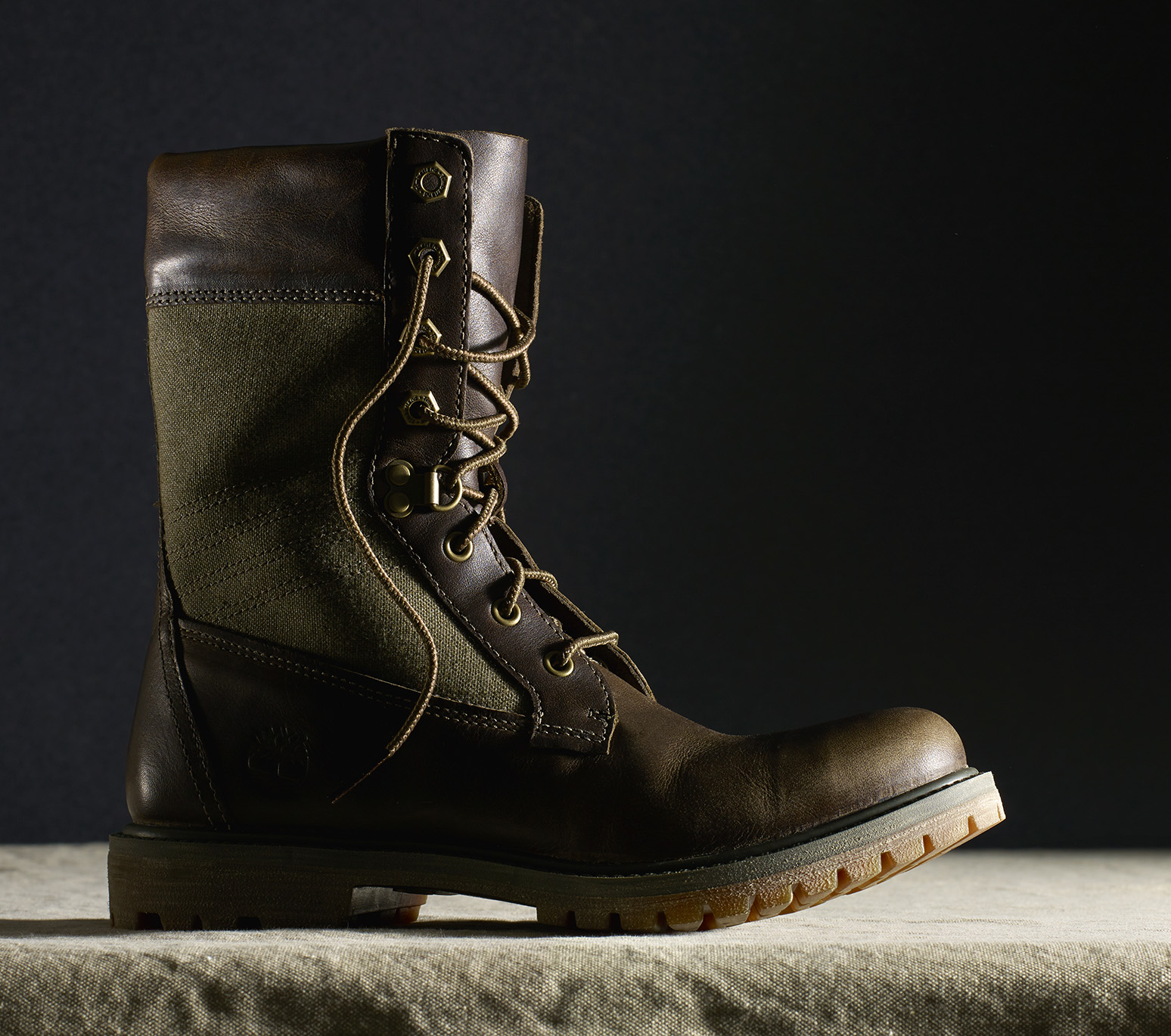 Timberland canvas and leather boot